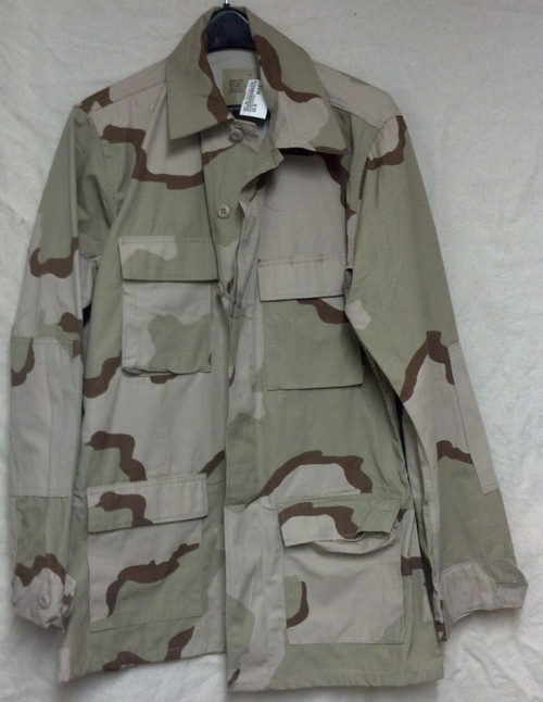 Desert 3 Color BDU Shirt NYCO Medium X-Long