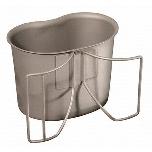 GI Canteen Cup SS with Wing Handles New
