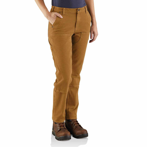 Carhartt Women's Straight Leg Double Front Pant Brown Duck