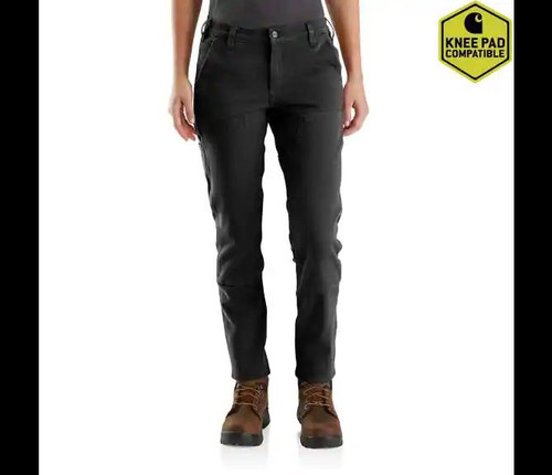 Carhartt Women's Straight Leg Double Front Pant Black