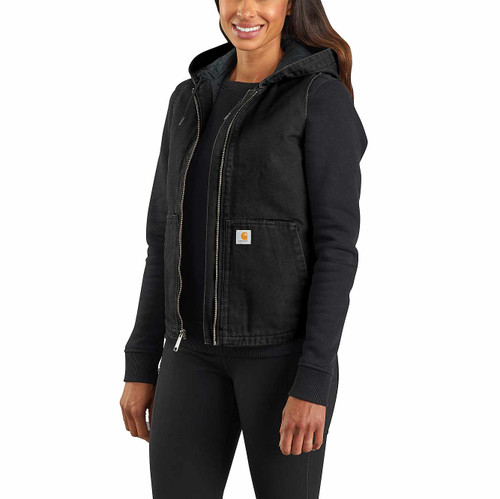 Carhartt Women's Hooded Vest Black