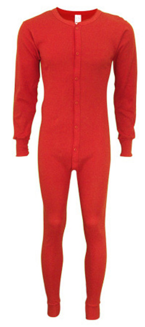Men's Red Unionsuit Red