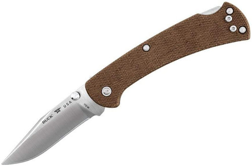 Buck Slim Ranger Folding Knife 112 Brown Micarta