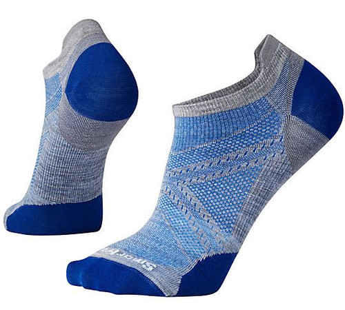 Smartwool Unisex PhD Run Ultra Light Micro Socks Light Blue Large