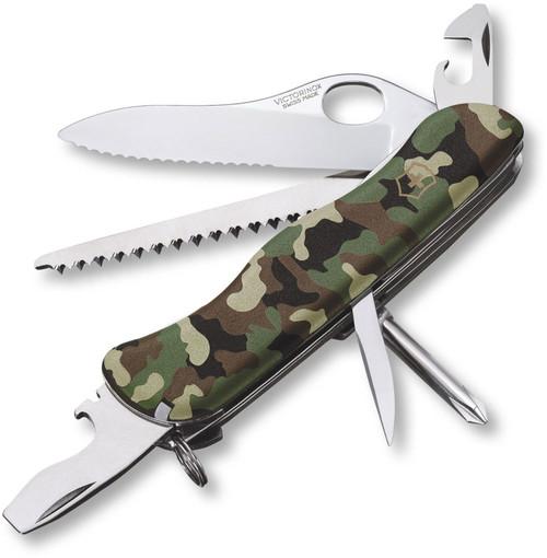 Victorinox One-Hand Trekker Camouflage Serrated Swiss Army Knife