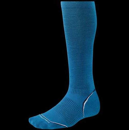Smartwool PhD Run Graduated Compression Ultra Light Unisex Blue Size Large