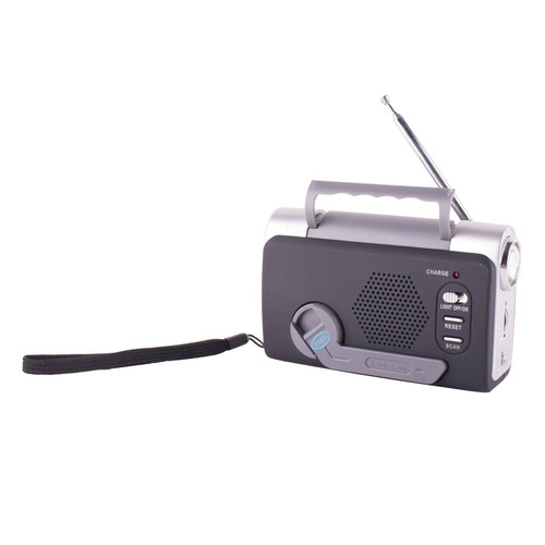 Stansport Emergency FM/Weatherband Dynamo Radio with LED Light