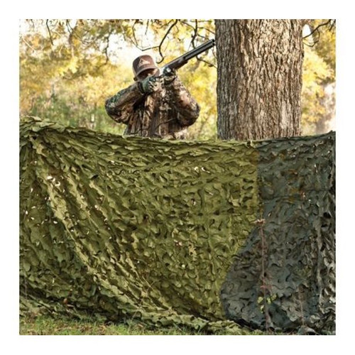 Red Rock Camo Netting with Stuff Sack Woodland Camo 8'x10'