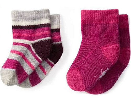 Smartwool Cozy Baby Booties Pink 0-6 Month or 6-12 Month