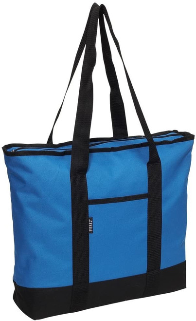 Everest Shopping Tote/Bag Royal Blue with Black Trim