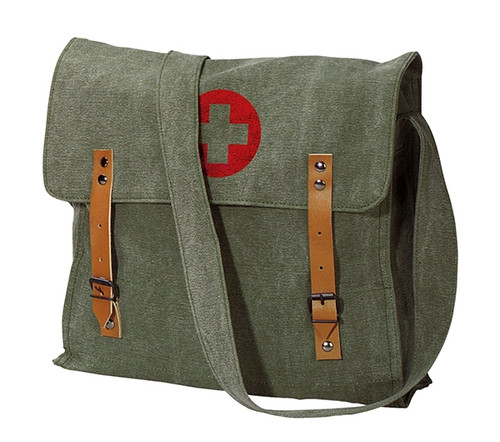 Rothco Vintage Olive Drab Tactical Shoulder Bag with Cross