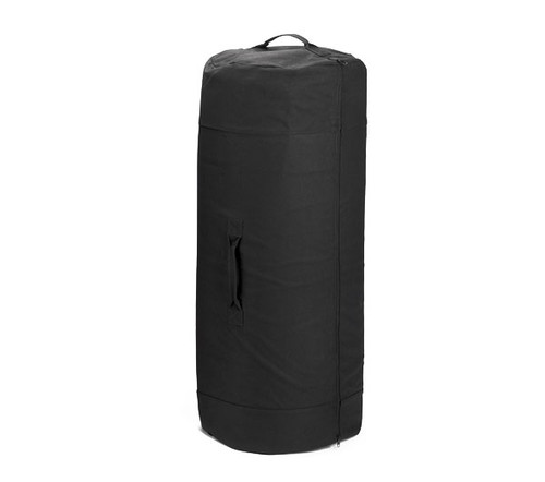 "Rothco Black Zipper Canvas Duffle Bag - 3488 -21""x36"""