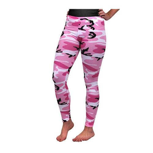 Women's Pink Camouflage Leggings