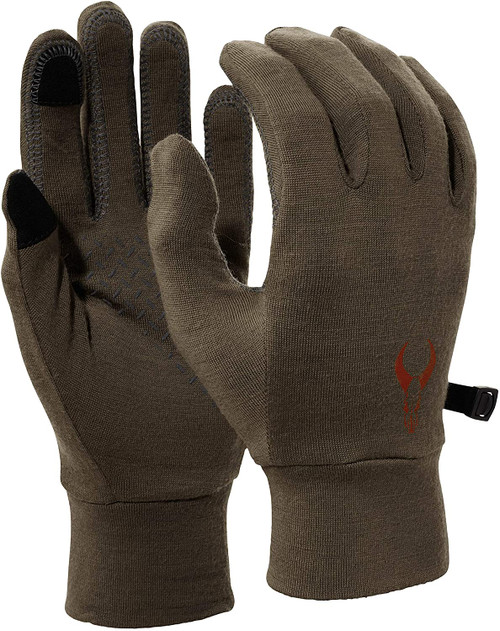 Badlands Merino Glove Liner - All-Season, Touchscreen-Compatible Hunting Gloves, Olive