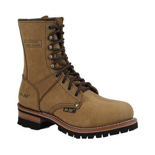 "AdTec Women's 2427 Logger Boot  9"" Soft Toe Brown"