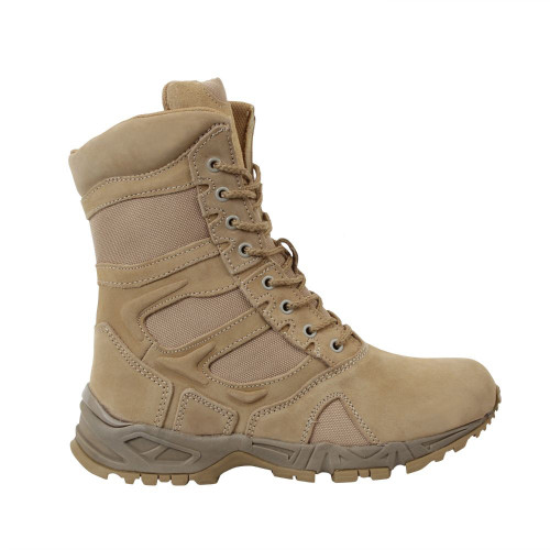 Men's Forced Entry Side Zipper Deployment Boot Rothco 5357 Dessert Tan