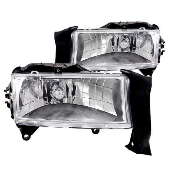 111021 Crystal Headlight Set - Clear Lens - Chrome Housing - Pair -