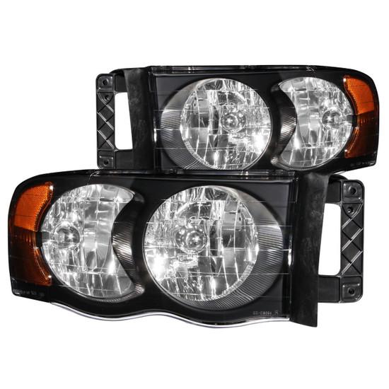 111022 Crystal Headlight Set - Clear Lens - Black Housing - Pair -