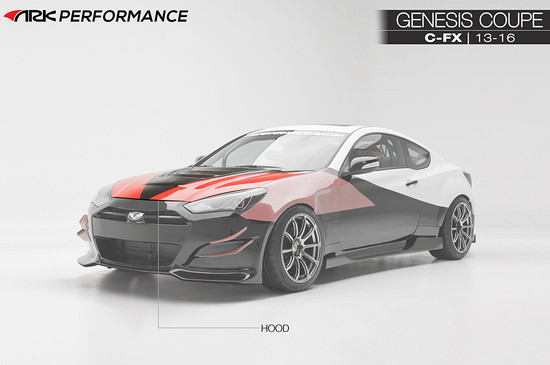 ARK Performance LEGATO BODY KIT:Front Wide Fenders & Bumper Extensions/Fender