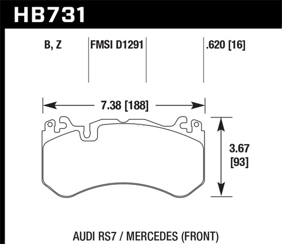 HB731B.620 HPS 5.0 Disc Brake Pad Set HPS 5.0