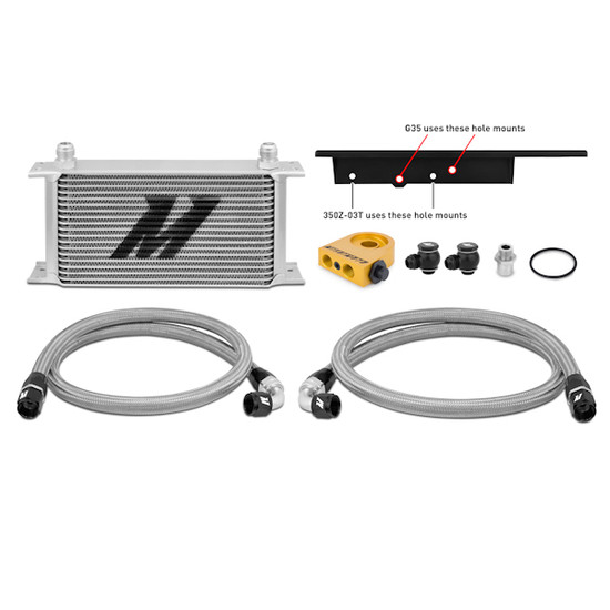 Mishimoto Nissan 350Z / Infiniti G35 Coupe Thermostatic Oil Cooler Kit MMOC-350Z-03T