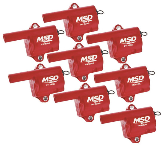 MSD 82868 Coils, Pro Power, GM L-Series Truck 99-07, 8-Pack