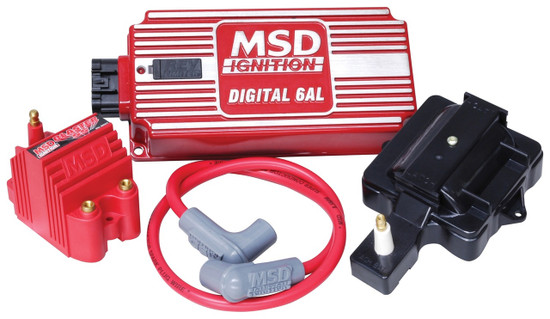 MSD 85001 Super HEI Kit with Digital 6AL, Blaster SS Coil, HEI Adapter and 8.5mm Coil Wire