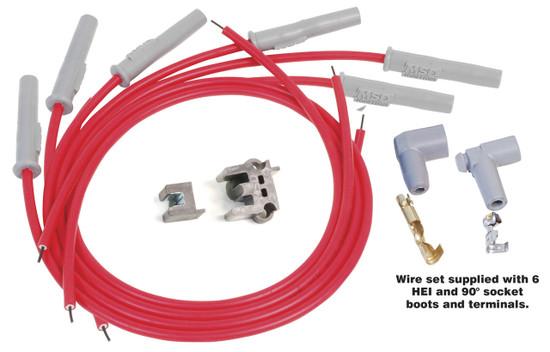MSD 31179 Wire Set, Super Conductor, Multi-Angle Plug, Socket/HEI