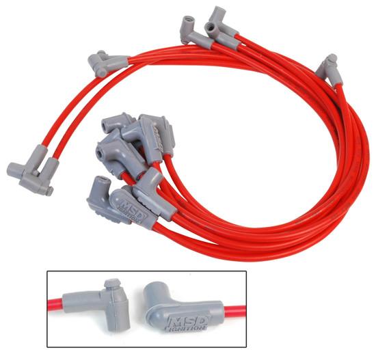 MSD 31229 Wire Set, Super Conductor, 8-cyl. 90? Plug/90? Plug