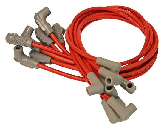 MSD 30829 Wire Set, Super Conductor, Big Block Chevy, with PN 8541 Crab Cap