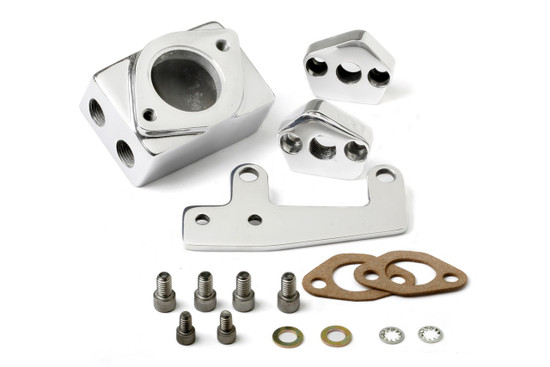 Weiand 7132P CHRY THERMOSTAT HSNG KIT POL (REINSTATED)