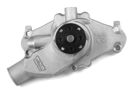 Weiand 9221 LTS-SBC SHORT CORVETTE TEAM G WATER PUMP ADJ-SATIN