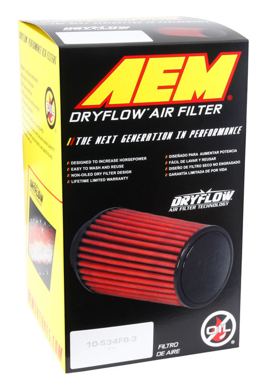 AEM Induction 21-201D-XK Universal Race Dry Flow Clamp-on