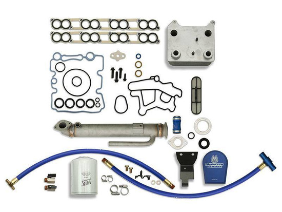 Sinister Diesel SD-BS-6.0-EGRC-RC-CF Engine Oil Cooler Kit