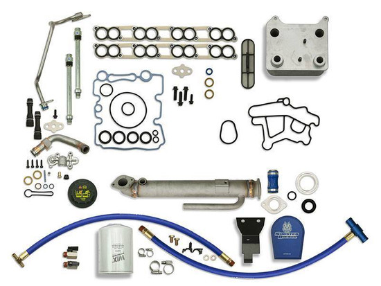 Sinister Diesel SD-BS-6.0-EGRC-RC-CF-UK-03 Engine Oil Cooler Kit