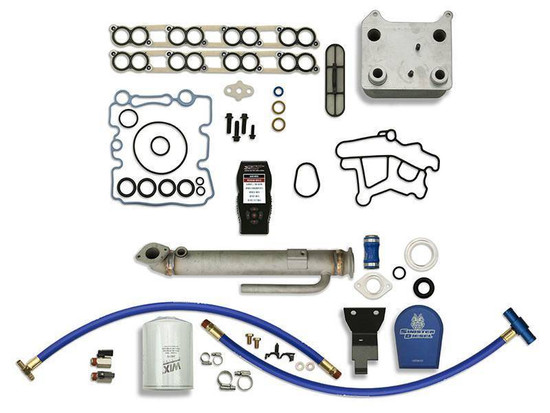 Sinister Diesel SD-BS-6.0-EGRC-RC-CF-7015 Engine Oil Cooler Kit