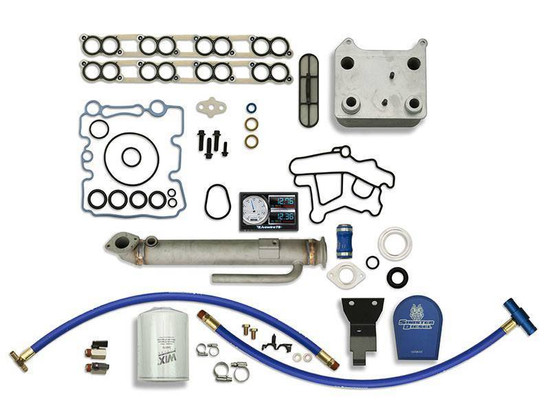 Sinister Diesel SD-BS-6.0-EGRC-RC-CF-5015 Engine Oil Cooler Kit