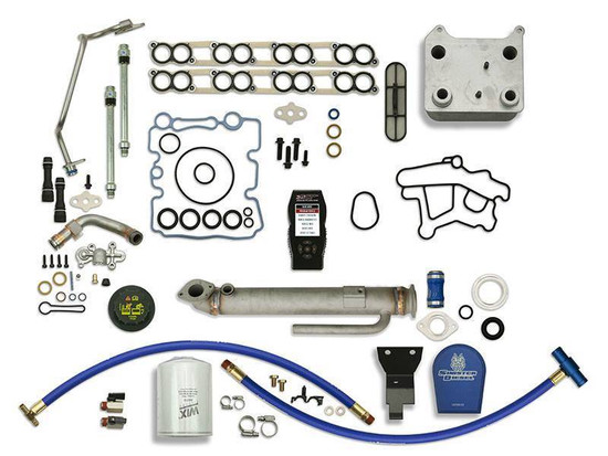 Sinister Diesel SD-BS-6.0-EGRC-RC-CF-7015-UK-03 Engine Oil Cooler Kit