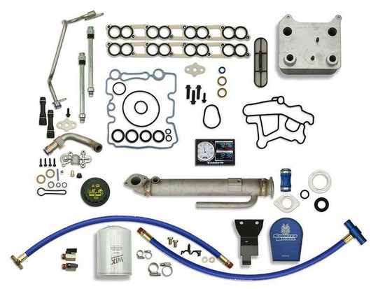 Sinister Diesel SD-BS-6.0-EGRC-RC-CF-5015-UK-03 Engine Oil Cooler Kit