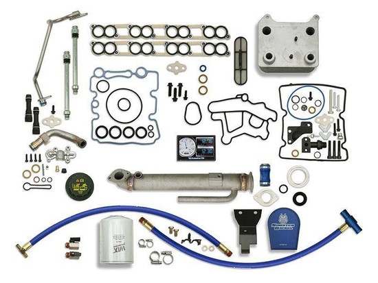 Sinister Diesel SD-BS-6.0-EGRC-RC-CF-5015-UK-05 Engine Oil Cooler Kit