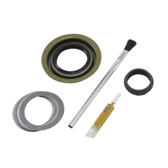 Yukon Gear MK C8.25-A Minor Differential Install Kit Fits '75 and down Chrysler 8.25''. Includes pinion seal, complete shim kit, pinion nut, crush sleeve (if applicable), baffles and slingers (if applicable), marking compound and brush.