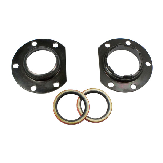 Yukon Gear AK C8.75-AX-ADJ Axle Bearing/Seal Kit Fits Chrysler 8.75''. Includes adjuster, adjuster plate, retaining plate and axle seal.