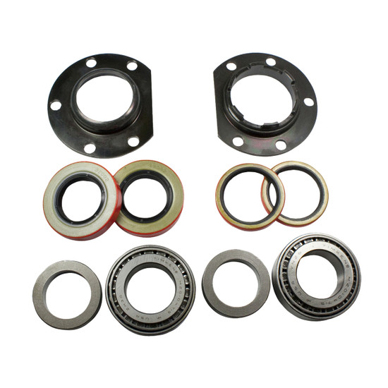 Yukon Gear AK C8.75-OEM-COMPLETE Axle Bearing/Seal Kit Fits Chrysler 8.75''. Includes adjuster, adjuster plate, retaining plate, axle seal and Set7 bearing.