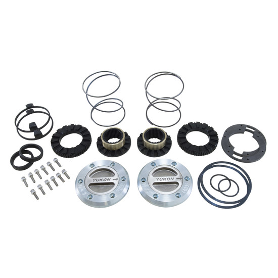 Yukon Gear YHC70002 Yukon Hardcore Locking Axle Hub Set Fits Dana 60 with 35 spline outer stubs in '99-'04 Ford. Features all steel construction and low profile bezel. 1/3 turn to engage and disengage. Defaults to lock.