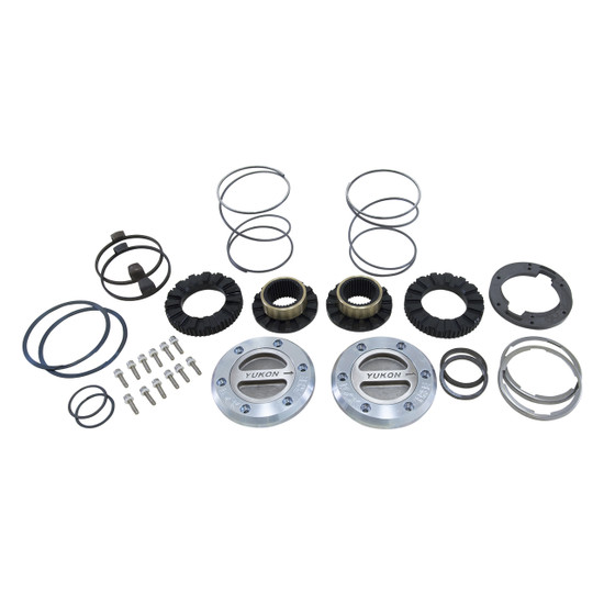 Yukon Gear YHC70008 Yukon Hardcore Locking Axle Hub Set Fits Dana 60 with 35 spline outer stubs and Yukon Spin Free Kit in '94-'99 Dodge. Features all steel construction and low profile bezel. 1/3 turn to engage and disengage. Defaults to lock.