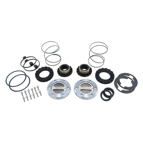 Yukon Gear YHC70004 Yukon Hardcore Locking Axle Hub Set Fits Dana 60 with 30 spline outer stubs in '99-'04 Ford. Features all steel construction and low profile bezel. 1/3 turn to engage and disengage. Defaults to lock.