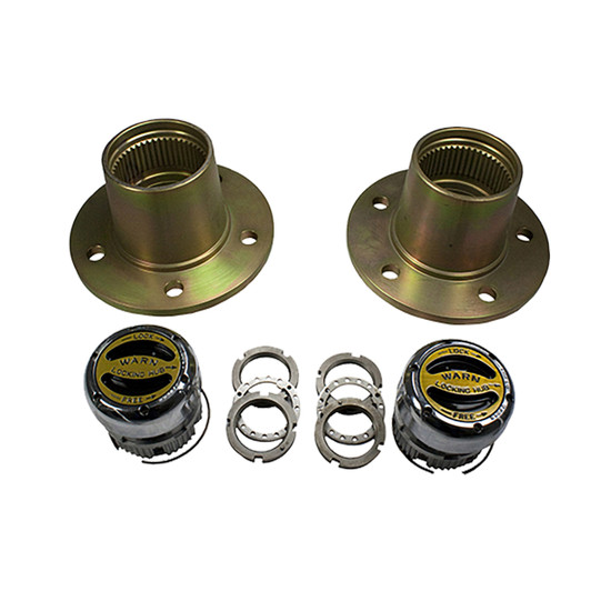 Yukon Gear YA W37132 Axle Hub Fits '73-'81 Scout front, converts to 5 x 5.5'' bolt pattern. Includes two hubs, spindle nut kit and locking hub set.