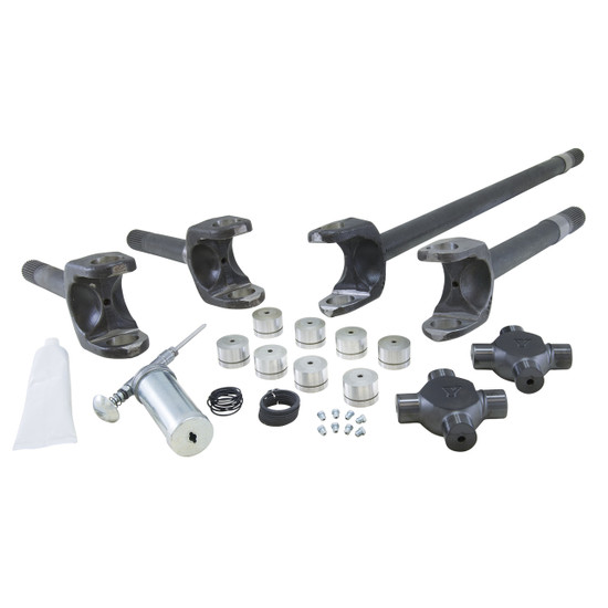 Yukon Gear YA W26004 Chrome-Moly Axle Kit Fits '77-'91 GM Dana 60 with 35 spline inner axles. Includes inner and outer chromoly axles, spindles, seals and Yukon Super Joints.