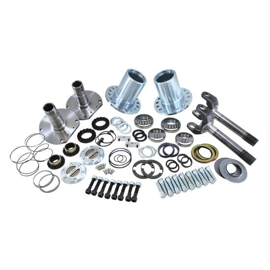 Yukon Gear YA WU-13 Hub Conversion Kit Fits '12-'17 Chrysler 9.25'' front, SRW. Includes outer axles, hubs, spindles, Yukon Hardcore locking hubs and all necessary hardware for installation.