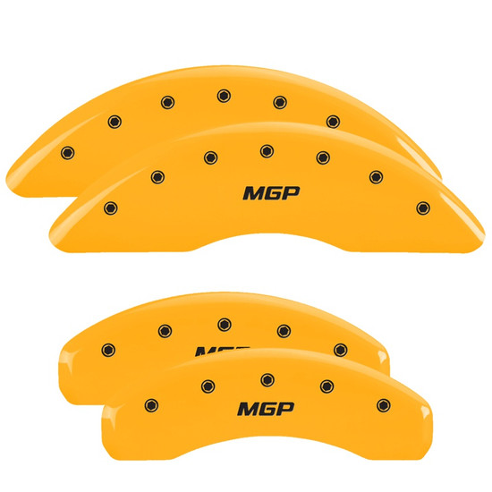 MGP Caliper Covers 38027SMGPYL Set of 4 caliper covers, Engraved Front and Rear: MGP, Yellow powder coat finish, black characters